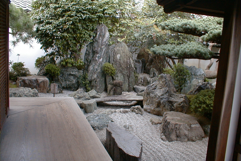 Dry waterfalls Daisen-in temple
